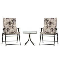 Conjunto De Mesa + 2 Cadeiras Estofadas - Kairos 9012 Mor