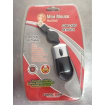Mouse Mini Retrátil Force Line Promoção!!
