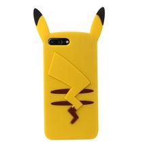 Estuche Iphone 7 Plus 7 Dibujos Animados 3d Amarillo Pikachu