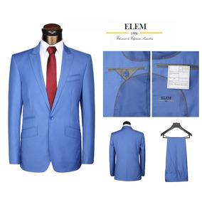 Terno Ejecutivo Azul Fit Slim