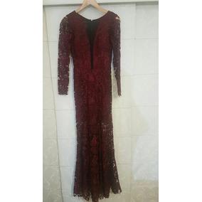 Vestido De Renda Burgundy