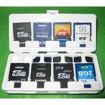 Porta Cartão Memoria 16 Sd Card Micro Estojo Case Bolsa Capa