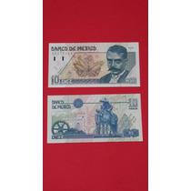 Billete Antiguo 10 Pesos Emiliano Zapata