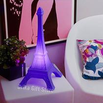 Luminaria Abajur Torre Eiffel Lilas Paris Presente Criativo