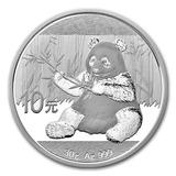 10 Yuan Moneda Onza De Plata Pura China 2017 Nuevísimo !!