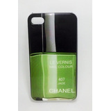 Capa Esmalte Chanel 407 Jade Para Iphone 4/4s - Verde
