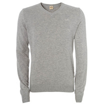 Suéter Masculino Hollister Iced Gry