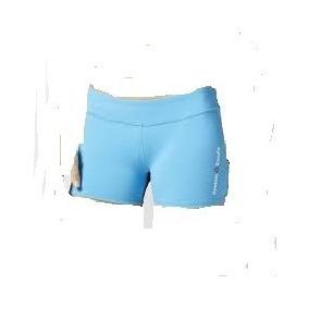 Remate Reebok Crossfit Short Licra Dama Azul Talla M
