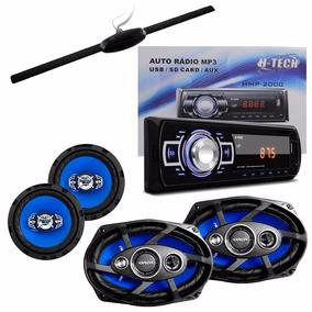 Kit Som Combo C/ Auto Rádio + Falantes De 6