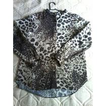 Camisa Feminina De Chifon Estampada