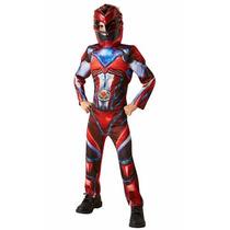 Disfraz Power Ranger Movie Rojo 7-8 Años Importado
