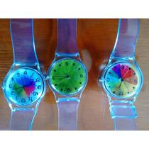 Lote De 3 Relojes Transparentes