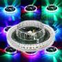 Disco De 48 Leds Rotativo Colorido 3d Sensor De Som Festa Dj