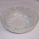 Ensaladeras Bols Bowl De Vidrio Labrado - Modelo Floral 23cm