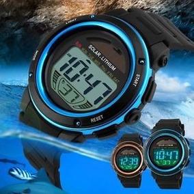 Reloj Solar Led Unisex Hora-minutos-dia-mes-cronometro-luz