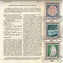 Hoja Primer Día 1980 Monumentos Prehispánicos Arqueologi