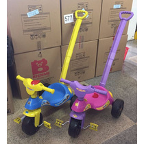 Triciclo Velotrol Infantil Empurrador Haste - Queima Estoque