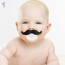Chupetas Bebe Bico Bigode Divertido Engraçado Infantil