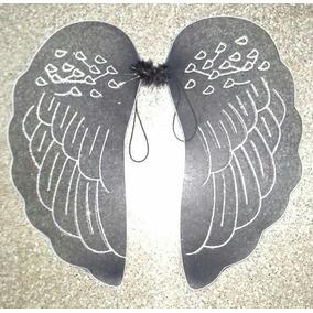 Alas De Angel Negra De Tul Grande
