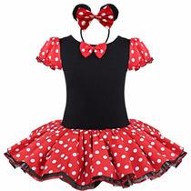 Vestido Fantasia Minnie C/ Tiara