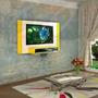 Painel Com Suporte Tv Lcd/plasma/led Até 52 Monet Amarelo
