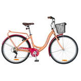 Bicicleta Bianchi Paseo Aro26 Lady Alloy Color Canela/burdeo