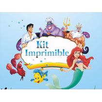 Kit Imprimible De Cumpleaños La Sirenita Personalizdos