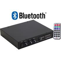 Receiver Amplificador Som Ambiente Aex Slim 1200 Usb Fm Sd