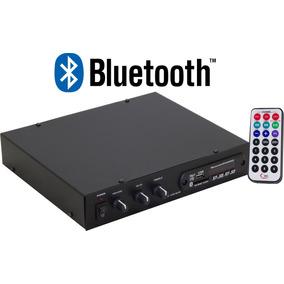 Receiver Amplificador P/ Som Ambiente Slim 120w Radio Fm Usb