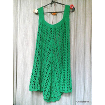 Vestido Bobo Tejido A Crochet. A Pedido En Cualquier Talle.