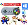 Mando Super Nintendo Caja Snes Usb / Pc-mac + Dvd Mil Juegos