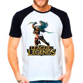 Camiseta Raglan League Of Legends Katarina Lol Mid Middle