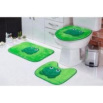 Jogo De Banheiro Sapo Em Pelúcia