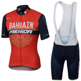 Conjunto Ciclismo Bretelle E Camisa Merida *frete Grátis*