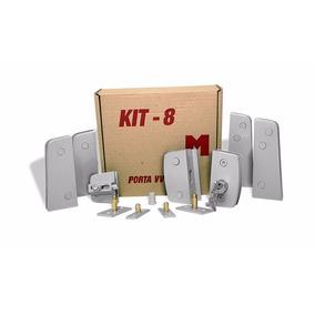 Kit 08 - Ferragem P/ Duas Portas De Abrir Pivotante P/ Vidro