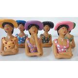 Kit Com 06 Bonecas Namoradeira De Cerâmica Tamanho Pp