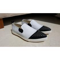 Zapato En Punta Prune Con Tachitas Talle 40