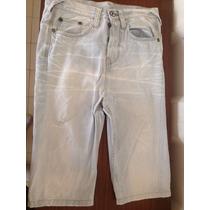 Bermuda Short Pantalon Pull And Bear Talla 30 Poco Uso
