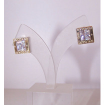 Conjunto Aros + Dije + Cadena Plata 925 C/ Oro Cubic