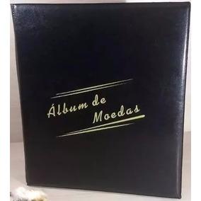 Album Pequeno Para 200 Moedas Com 10 Folhas X 20 Moedas