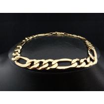 Cordão Pulseira 3x1 Masculina Feminina De Ouro 18k 750