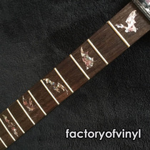 (*) Inlays Stickers Murcielagos Bats Abalone Morado Guitarra