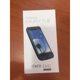 Forro Estuche Cargador Galaxy S3 Samsung Blanco Y Negro