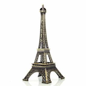 Enfeite Miniatura Torre Eiffel Metal Paris Decoração 13 Cm