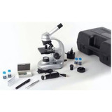 Microscopio Metal Cámara Conector Usb Para Pc Notebook Luz