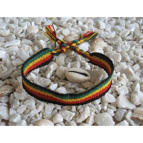 Pulseira Reggae Bob Marley Jamaica De Amarrar. Frete Ùnico!
