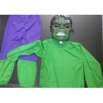 Disfraz Increible Hulk + Mascara Con Luz - Talle L