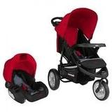 Coche Bebe Fox + Baby Silla Bebesit Rojo - Envíos Gratis