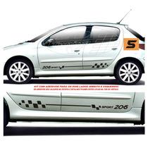 Adesivos Acessórios Faixas Laterais Peugeot 206 E Sw 4 P