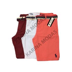 Kit 3 Bermuda Masculina Sarja / Jeans Varias Marcas
